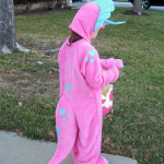 Triceratops Costume Back